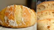 Простий рецепт домашнього хліба. Виходить пишний, запашний і з хрусткою скоринкою