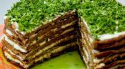 Печінковий тортик з часничком — дуже смачний