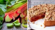 Сезонний пісочний пиріг з румбамбаром (ревенем) за рецептом бабусі. Ідеальне поєднання кислого та солодкого
