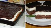 Шоколадний бісквітний торт на одному коржі: задоволення і від приготування, і від дегустації!
