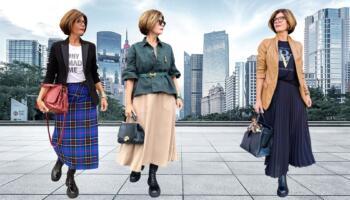 Як правильно та стильно носити довгу спідницю