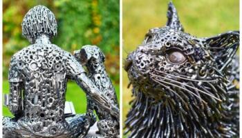 Художник-самоучка перетворює металеве сміття в неймовірні скульптури